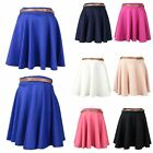SALE CLEARANCE LADIES FLOWING SKATER BELTED SKIRT MINI PARTY CASUAL BOHO SKIRT