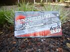 SunShield Silver/Black Tarp - UV 6.0 oz - Heavy Duty with Reinforced Corners