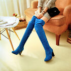 2016 Full size womens shoes over the knee high boots womensboots size faux suede
