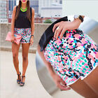 Boho Fashion Ladies Summer Printing Elastic waist Beach Casual Shorts Plus size
