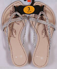 BHS Womens Silver Strappy Thong Sandals Beach Shoes Fast Free UK Shipping BNWT
