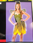 Miss Bee Adult Costume Halter Dress Wings S M NIP