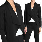 TheMogan Asymmetrical Draped Open Front Blazer Casual to Dress Up Layer Jacket