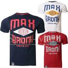 Mens Max Edition Graphic Bronx Print Short Sleeve Crew Neck Cotton T-Shirt