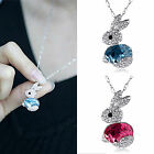 CHIC New Fashion Rabbit Crystal Pendant Long Pendant Sweater Chain Necklace