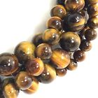 "Golden Tigereye Round Beads 15"", 4, 6, 8, 10, 12mm, pick your size"