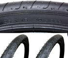 (Pair of) Slick Puncture Protection MTB Bike Tyres 26 x 1.50 + Inner Tubes