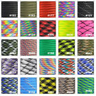 550 Paracord Parachute Cord Lanyard Mil Spec Type III 9 Strand Core 25 50 100ft
