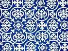 Assorted Sizes Mediterranean Blue White Cotton Fabric Tablecloth FREE SHIPPING