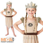 Viking Warrior Dress + Hat Girls Fancy Dress World Book Day Kids Costume Outfit