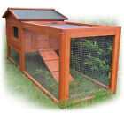 Wooden Chicken Coop Hen House Rabbit Hutch Poultry Wood Cage w Run (4L-41)