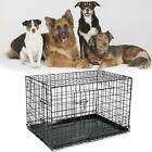"""24""""/30""""/36""""/42"""" black Metal Dog Pet Carrier Training Cage with removable tray"""