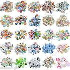 10PCs Mixed Glass Flatback Scrapbooking Dome Cabochons DIY Charm 25 Colors 2cm