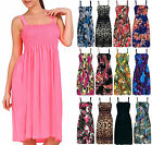 10 x Wholesale Ladies Floral Printed Mini Shirred Sundress Womens Strappy Dress