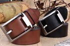Flossy Men's Cozy Waistband Business Casual Dress Leather Pin Buckle Belt UK EW