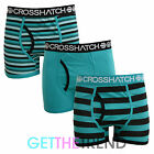 MENS CROSSHATCH DESIGNER BOXER SHORTS UNDERWEAR TRUNKS GIFT SET MULTI 3-PACK