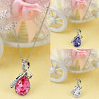 Women Rhinestone Chain Lady Crystal Necklace Fashion Pendant Jewerly unique gift