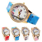 2015 Fashion Women Casual Watch Colored Eiffel Tower Paris PU Leather Watches