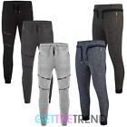 Mens Skinny Slim Fit Jog Pants Mens Designer Drop Crotch Black Joggers XS S M L
