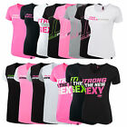 MUSCLE PHARM WOMENS SHORT SLEEVE T-SHIRTS - TOP GYM FITNESS EXCERISE TRAINING