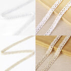 10m Vintage Cotton Crochet Lace Edge Trim Ribbon Sewing-White/Ivory