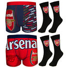Arsenal FC Official Football Gift Mens Crest Socks & Boxer Shorts (RRP £14.99!)