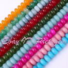 """5X8mm Rondelle Jade Smooth Gemstone Beads For Jewelry Making Spacer Strand 15"""""""