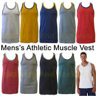 2 TONE DESIGN MENS MUSCLE VEST SLEEVELESS ATHLETIC GYM TOP FIT COTTON TRAINING