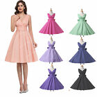 Vintage Sexy Women V Neck 40's 50's Rockabilly Swing Housewife Jive Dots Dresses