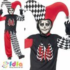 HALLOWEEN HORROR BLOOD CURDLING JESTER - 7-12 - child boys fancy dress costume
