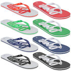 Mens Penn Logo Textured Slip On Summer Beach Bathroom Garden Flip Flops Size
