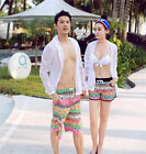 Couple Lovers Mens Womens Flower Beach Surf Board Casual Swim Hot Pants DR629