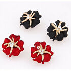 LWX Korean Bohemian Metal Rich Flowers Personality Starfish Earrings Jewelry