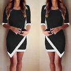 SUMMER Hot Women's Slim BODYCON Evening Party Mini Casual Dress Black White XS~L