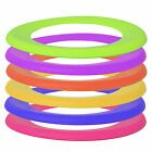 BRIGHT COLOURED OUTDOOR FLYING PLAY RING DOG PET PUPPY FLYING FETCH FRISBEE TOY