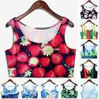 2015 Fashion Summer T-shirt Casual  Women Leaves Flower Crop Tank Top Vest EN24H