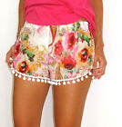 Womens Sexy Printing Short Pants Summer Beach Casual Elastic waist Shorts Hot
