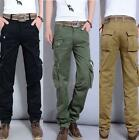 28-40 new Mens Military Cargo Pocket Pants overall cotton Leisure Trousers