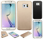For Samsung Galaxy S6 Hard Leather Back Protector Slim Case Cover + Screen Guard