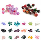 Fashion Natural Smooth Gemstone Round Loose Beads 4-12mm Assorted Stones Gem