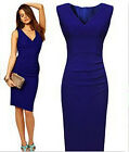 New Blue Sexy Women Slim Bodycon Cocktail Evening Party Ball Gown Mini Dress W13