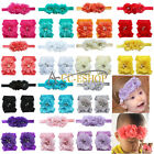 1Set Kid Baby Girl Toddler Infant Flower Headband Hair Bow Foot Band Accessories