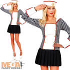 Sexy Navy Sailor + Hat Ladies Fancy Dress Military Uniform Womens Adults Costume