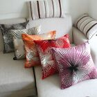 Flocking Dandelion Fashion Sofa Lounge Decor Pillow Case Cushion Cover 18""