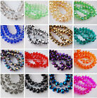 500pcs 3~4mm Rondelle Faceted Crystal Glass Finding Loose Spacer Beads 60 Colors