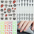 New 2 Sheets 3D Nail Art Stickers Beauty Manicure Decals Decor for Women Lady