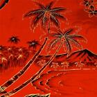 Hawaiian Print Cotton, Luape'le, Kumu Ni'u, Uli Uli, Kokio, Red & Metallic Gold