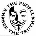 We The People Revolution V Guy Fawkes Mask Second Amendment 2A Decal Sticker