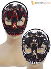 Sugar Skull Day Of The Dead Lace Mask Ladies Halloween Mexican Fancy Dress