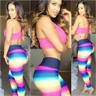 Womens Sexy Slim Multicolor Printed Summer Casual Long Pants Bottoming Trousers